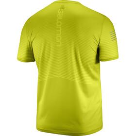 Salomon Sense Koszulka do biegania z krótkim rękawem Mężczyźni żółty